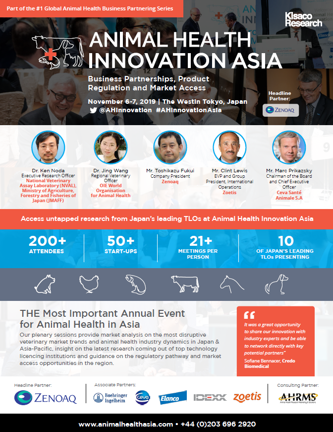Animal Health Innovation Asia 2019 agenda cover